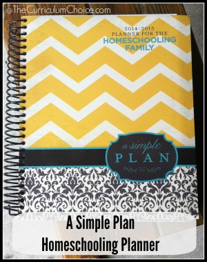 A Simple Plan Homeschooling Planner