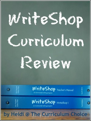 WriteShop Curriculum Review