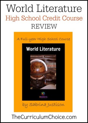 World Literature: A Full-Year High School Course by 7 Sisters Homeschool