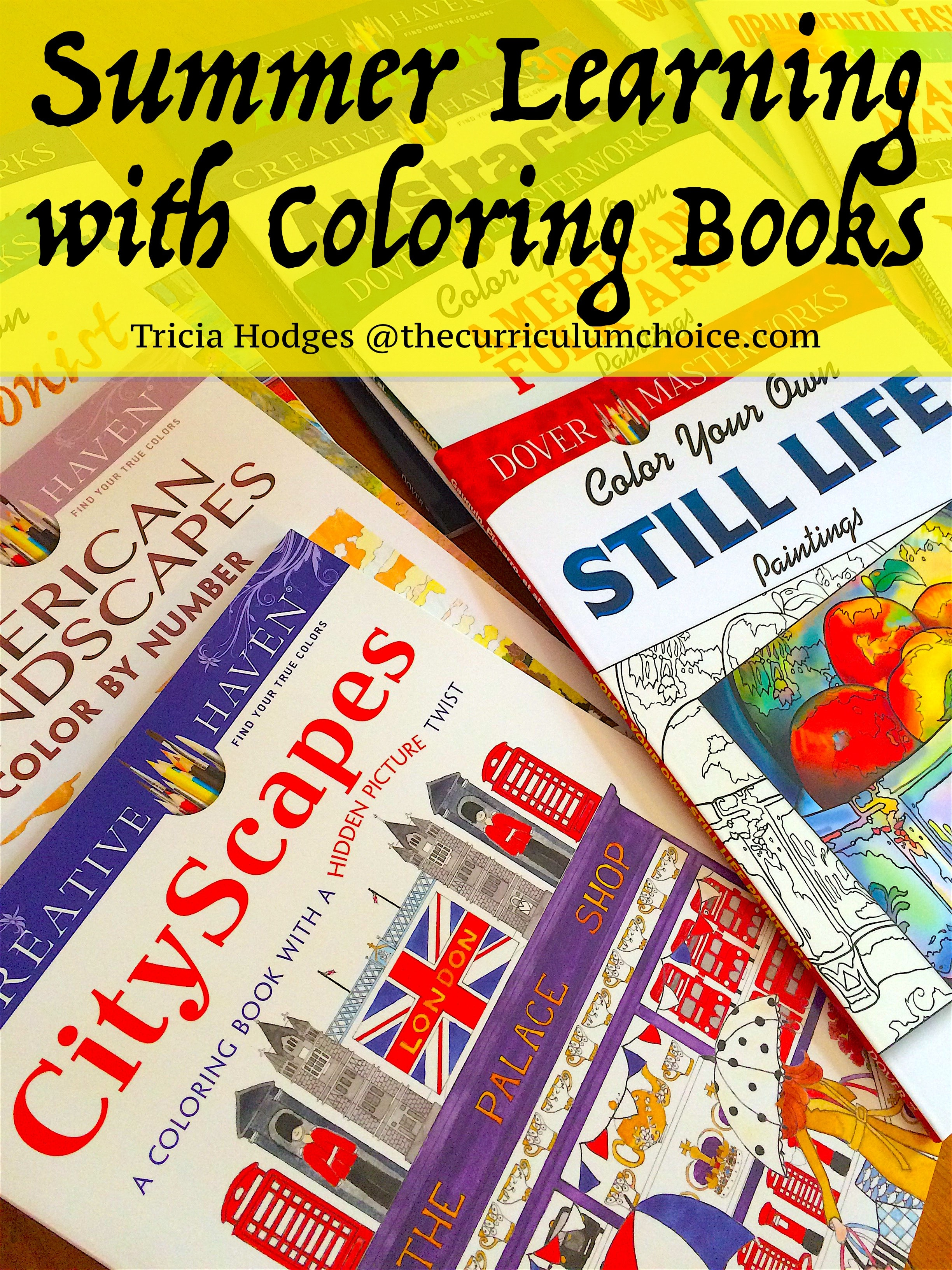 Summer Learning with Coloring Books - The Curriculum Choice