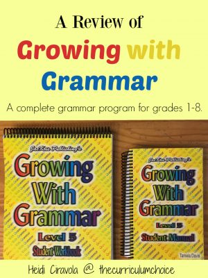 A Review of Growing with Grammar