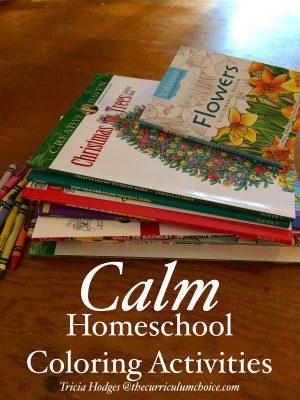 Calm Homeschool Coloring Activities