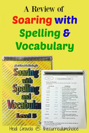 A Review of Soaring with Spelling and Vocabulary