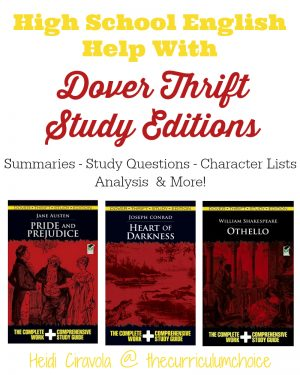 High School English Help with Dover Thrift Study Editions