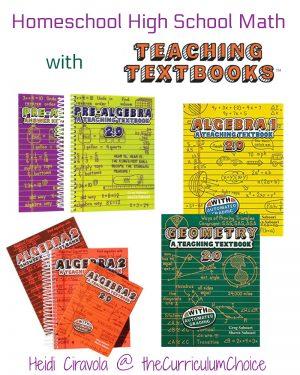 Homeschool High School Math With Teaching Textbooks
