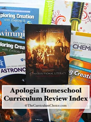 Apologia Homeschool Curriculum Review Index